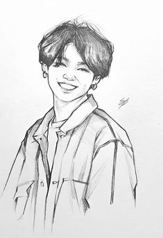 Kpop Drawings, Cool Art Drawings, Pencil Art Drawings, Art Drawings Sketches, Doodle Drawings, Jungkook Fanart, Kpop Fanart, Boy Sketch, Arte Sketchbook
