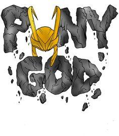 Vandal - Puny God (Loki) by demoose21 #hulk #loki #cool #design #selling #marvel