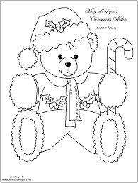 Coloring Page Christmas Bear
