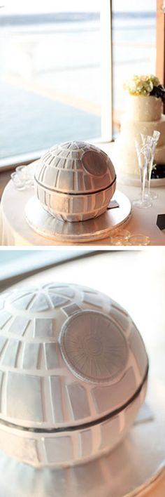 death star grooms wedding cake #starwars