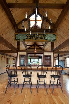 Bar   Carriage House Post & Beam Bar by Yankee Barn Homes, via Flickr