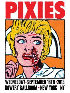 pixies Frank Kozik New York poster
