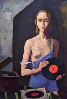 Karl Hofer. The Record Player. Oil on canvas, 1939.