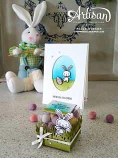 Stampin Up Basket Builder Basket Bunch card & gift box for Easter by Paula Dobson