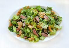 Steak Caesar Salad with Crisp Parmesan Shards