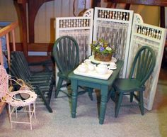 """Doll furniture for an 18"""" doll."""