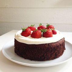 sockerfri kladdkaka Cheese Pies, Pie Cake, Fika, Sugar Free, Tart, Sweet Tooth, Cheesecake, Food And Drink, Healthy Eating