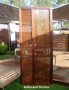 Natureed® Multi-Function Screen Made from two layers of Natureed®, supported internally, they may be used in a portrait or a landscaped shaped screen as dividers or barrier screens. Custom sizes ca…