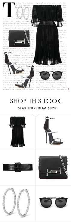 """""""BLACK X SILVER"""" by white-tie ❤ liked on Polyvore featuring Alexander McQueen, Giuseppe Zanotti, Tod's and Prada"""