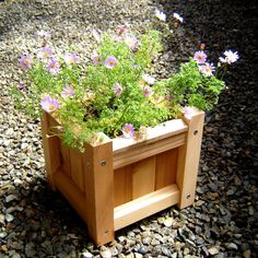 Canada Goose' Wooden Plant Stand,handcrafted By Log Cabin Workshop