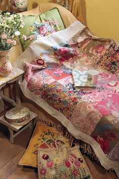 ⋴⍕ Boho Decor Bliss ⍕⋼ bright gypsy color & hippie bohemian mixed pattern home decorating ideas -  bedroom