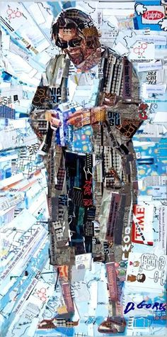 """Lebowski fest crafty thing, this is so amazing.  Collage by Derek Gores - """"The Dude"""" of 'The Big Lebowski'"""