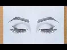 How to draw Closed Eyes for beginners. step by step How to draw Closed Eyes for beginners. Pencil Sketch Drawing, Pencil Art Drawings, Cool Art Drawings, Realistic Drawings, Art Drawings Sketches, Drawing Journal, Drawing Drawing, Pencil Drawings For Beginners, Eye Drawing Tutorials
