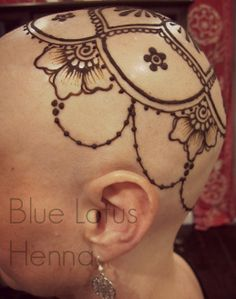 Henna blessings for women going through chemo who lose their hair. A wonderful and empowering alternative to wigs and hats...