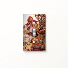 """Little Red Riding Hood"" - Light Switch Cover"