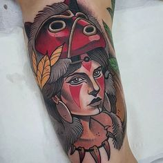 Princess Mononoke Tattoos