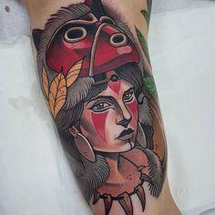 Princess Mononoke Tattoos