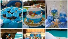"""This is a beautiful """"Under The Sea"""" themed party I recently created for my god-daughter, Lauren's 10th birthday celebration!  I have always ..."""