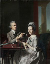 Philadelphia Museum of Art - Collections Object : Portrait of Mr. and Mrs. Thomas Mifflin (Sarah Morris) by John Singleton Copley (Philadelphia Museum of Art, Philadelphia, PA, USA)
