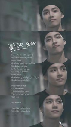 Winter bear 🍯🐻💤 💜 💚 💜 💚 💜 bts jin suga jhope rapmon jm v jk sarangabts bangtansonyeondan방탄소년단 btsforever kpop btsarmy winterbear Bts Song Lyrics, Bts Lyrics Quotes, Bts Qoutes, Bts Taehyung, Bts Bangtan Boy, K Pop, Bts Memes, Wallpaper Computer, Macbook Wallpaper