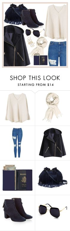 """""""#51"""" by mirela2307 ❤ liked on Polyvore featuring MANGO, Topshop, Royce Leather, Diane Von Furstenberg, Monsoon and BP."""