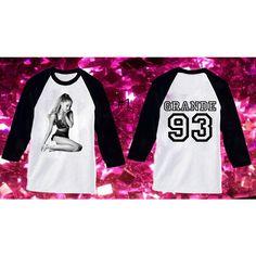 Ariana Grande Baseball Raglan Shirt Fans Take a Look ($25) ❤ liked on Polyvore