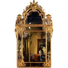 Giltwood Regence Mirror | From a unique collection of antique and modern pier mirrors and console mirrors at http://www.1stdibs.com/furniture/mirrors/pier-mirrors-console-mirrors/
