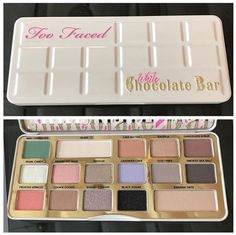 Too Faced: White Chocolate Bar MORE CHOCOLATE, PLEASE! Yummy chocolate scented eyeshadow, that is! Too Faced is releasing their NEW White Chocolate Bar Palette on Thursday, The palette will be available both at Sep… Too Faced Eyeshadow, Blending Eyeshadow, Too Faced Makeup, Eyeshadow Palette, Paleta Too Faced, Maquillage Too Faced, Skin Makeup, Beauty Makeup, Drugstore Beauty