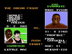 mike tyson punch out for nes...ah! the memories.