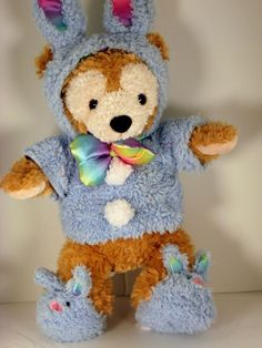 Hidden MICKEY Duffy Bear Easter Bunny Bear Disney Parks & Resort Plush  #DisneyParksAuthentic