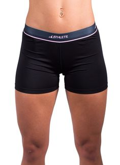 Athlete Women's Compression Under Base Layer Mini-Short Style-W06-Black
