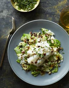 A Recipe for Roast Cod and Cabbage With Hazelnut-Chili Vinaigrette
