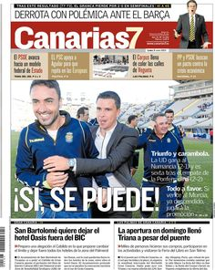 Los Titulares y Portadas de Noticias Destacadas Españolas del 3 de Junio de 2013 del Diario Canarias 7 ¿Que le parecio esta Portada de este Diario Español?