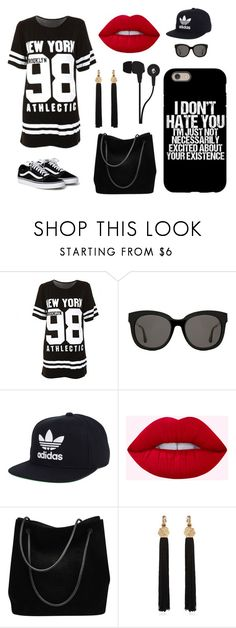 """""""Weekend"""" by madmaggie20 on Polyvore featuring moda, Gentle Monster, adidas, Gucci, Yves Saint Laurent e Skullcandy"""