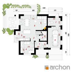 gotowy projekt Dom w miłowonkach rzut parteru Modern House Plans, Modern House Design, Design Case, Home Decor Kitchen, Floor Plans, How To Plan, Architecture, House Styles, Log Homes