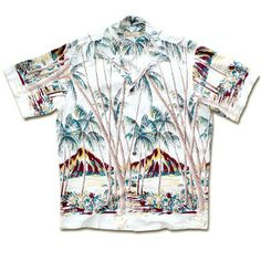 FREE SHIPPING - EVERY ORDER, EVERY DAY! Pineapple Juice -Hawaiian Palm - From Here to Eternity (Montgomery Clift )Vintage Hawaiian shirt Replica. This white version is the one he wears during his death scene. ooops. spoiler alert.