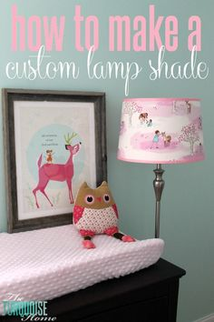 Want to find a special way to inject a sweet fabric of your choice?? | How to Make a Custom Lamp Shade | TheTurquoiseHome.com