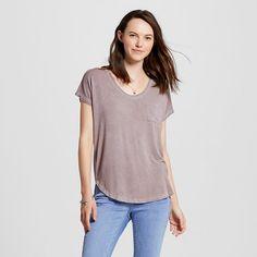 Women's Short Sleeve Drapey Tee - Mossimo Supply Co.™ (Juniors') : Target