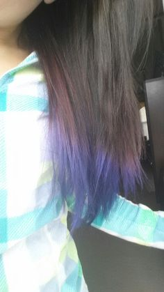 DIY Purple hair♥