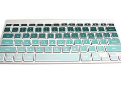 Personalize a Mac keyboard with this fun ombré decal.