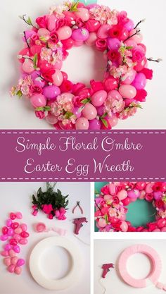 It may look like it takes a pro to make this Easter egg wreath, but @dimprovised will show you how simple it really is to make this DIY Easter decoration.