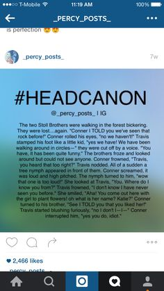 Oh, Tratie And Connor knows ALL He's Travis' twin - so duh Percy Jackson Couples, Percy Jackson Head Canon, Percy Jackson Ships, Percy Jackson Characters, Percy Jackson Quotes, Percy Jackson Books, Percy Jackson Fandom, Percabeth, Solangelo