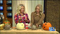 There is so much more to do these days than simply CARVE pumpkins. You can paint pumpkins, decoupage them, add beads, add glitter! Jennifer from themagicbrushinc.com demonstrates some techniques