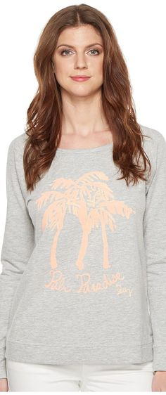 Lilly Pulitzer Sandy Popover (Papaya Palm On) Women's Sweatshirt - Lilly Pulitzer, Sandy Popover, 26154-833SF4-833, Apparel Top Sweatshirt, Sweatshirt, Top, Apparel, Clothes Clothing, Gift - Outfit Ideas And Street Style 2017