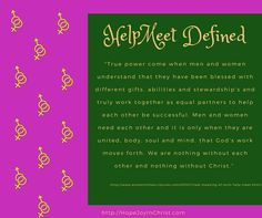 HelpMeet Defined Biblical Wifehood, Christian Marriage advice (Reclaiming Hope & Joy in your Marriage)