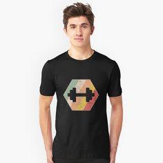 'Dumbbell Athletes Gym' T-Shirt by favorite-shirt Buy Dumbbells, Gym Essentials, Tshirt Colors, Athletes, Wardrobe Staples, Female Models, Heather Grey, Classic T Shirts, Shirt Designs