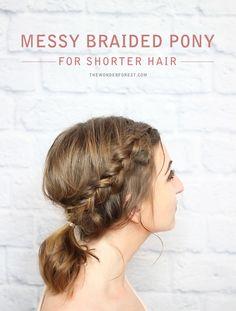 DIY: messy braided ponytail
