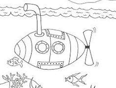 Výsledek obrázku pro omalovánka ponorka