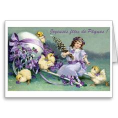 vintage français de cartes postales de pâques   joyeuses_fetes_de_paques_carte_de_paques_de_fran ...