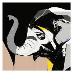 "Saatchi Art Artist Simone Guimaraes; Drawing, ""Asian Elephant, Limited Edition 1 of 25"" #art"
